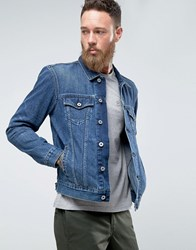 Edwin High Road Denim Jacket Mid Sleet Wash Blue