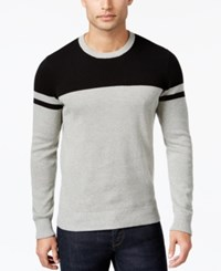 Kenneth Cole New York Men's Petrarch Colorblocked Sweater Heather Grey