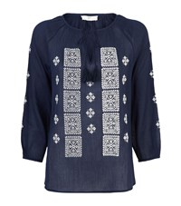 Joie Milian Tunic Embroidered Top Female