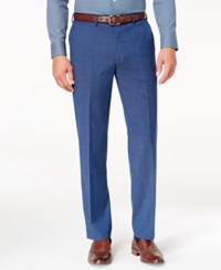 Michael Kors Men's Classic Fit Airsoft Stretch Solid Suit Pants Blue