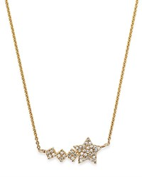 Moon And Meadow Diamond Shooting Star Pendant Necklace In 14K Yellow Gold 0.11 Ct. T.W. 100 Exclusive White Gold
