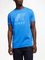 K Way Short Sleeve Logo T Shirt Blue