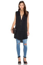 Bishop Young Embroidered Tunic Tank Black