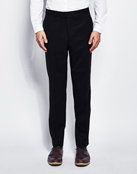 The Idle Man Suit Trousers In Slim Fit Navy