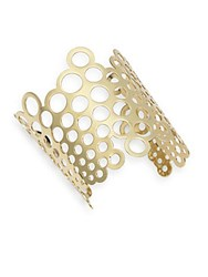 Jules Smith Designs Thick Bubble Cuff Bracelet Gold