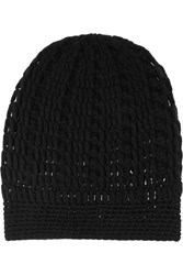 Madeleine Thompson Maddy Cashmere Beanie Black