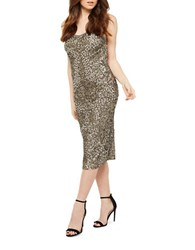 Miss Selfridge Sequined Open Back Dress Multicolor