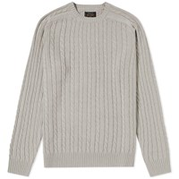 Beams Plus Cable Crew Knit Grey