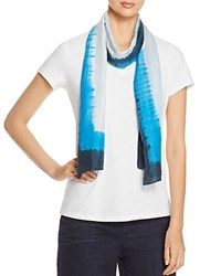 Eileen Fisher Tie Dye Silk Scarf Catalina