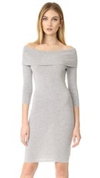 Cupcakes And Cashmere Vance Off Shoulder Sweater Dress Light Heather Grey