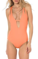 Becca Women's Color Code One Piece Swimsuit Creamsicle