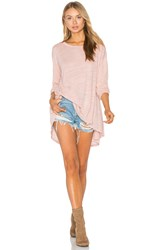 Heather Cotton And Gauze Swing Top Blush