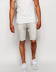 New Look Denim Shorts In Skinny Fit Grey