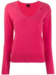 Pinko Long Sleeved Pullover Pink