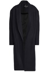 Nicholas Wool And Cashmere Blend Felt Coat Midnight Blue