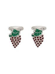 Etro Enamelled Strawberry Cufflinks Silver