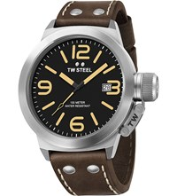 Tw Steel Cs31 Canteen Stainless And Leather Watch