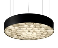 Lzf Spiro Led Suspension Light Medium Black Ivory White