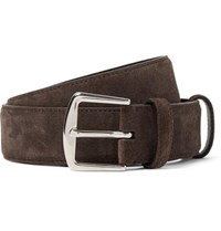 Loro Piana 3.5Cm Brown Alsavel Suede Belt