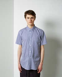 Comme Des Garcons Short Sleeve Pocket Shirt Blue
