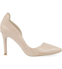 Reiss Blake Leather Court Shoes Blush