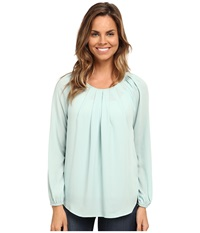 Karen Kane Pleat Front Blouse Mint Women's Blouse Green