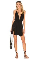 Indah Harlem Layered Mini Dress Black