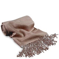 Forzieri Taupe Pashmina And Silk Shawl