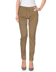 Shine Denim Denim Trousers Women Khaki