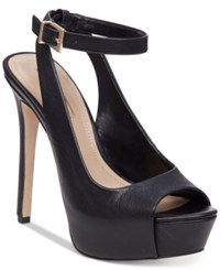 Bcbgeneration Solo Platform Pumps Women's Shoes Black Nappa
