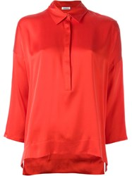 P.A.R.O.S.H. Three Quarter Sleeve Blouse Red