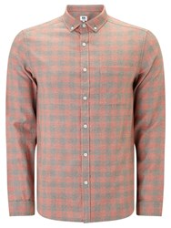 John Lewis Kin By Griddle Check Long Sleeve Shirt Orange