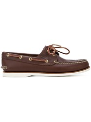 Timberland Lace Boat Shoes Brown