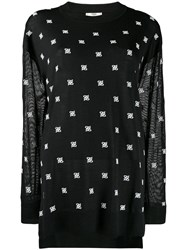 Fendi Karligraphy Oversized Jumper Black