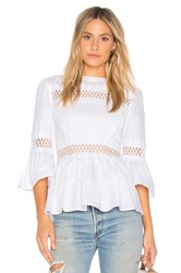Endless Rose Pleated Blouse White