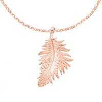 Dower And Hall Feather Pendant Rose Gold N A N A