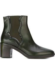 L'autre Chose Chunky Mid Heel Boots Green