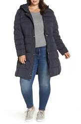 Marc New York Plus Size Jersey Hooded Parka Navy