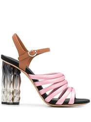 Salvatore Ferragamo Refracted Heel Sandals 60