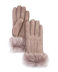 Ugg Shearling Sheepskin Gloves Stormy Gray