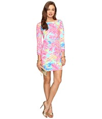 Lilly Pulitzer Upf 50 Sophie Dress Multi Palm Beach Coral Women's Dress