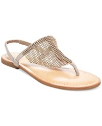 Madden Girl Madden Girl Sandie Rhinestone Hooded Flat Thong Sandals Women's Shoes Taupe