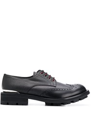 Alexander Mcqueen Chunky Lace Up Brogues Black
