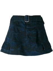 Marc Jacobs Camouflage Pattern Skirt Women Cotton 4 Blue