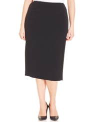 Kasper Plus Size Pencil Skirt Black