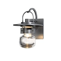 Hubbardton Forge Mason Small Outdoor Sconce Burnished Steel Gray