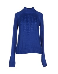Only Knitwear Turtlenecks Women Blue