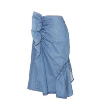 J.W.Anderson Gathered Denim Skirt Blue