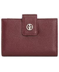 Giani Bernini Softy Leather Wallet Created For Macy's Wine