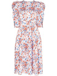 Vika Gazinskaya Floral Print Midi Dress Multicoloured